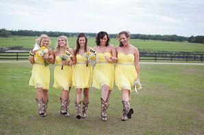 Pale Yellow J. Crew Bridesmaid Dresses