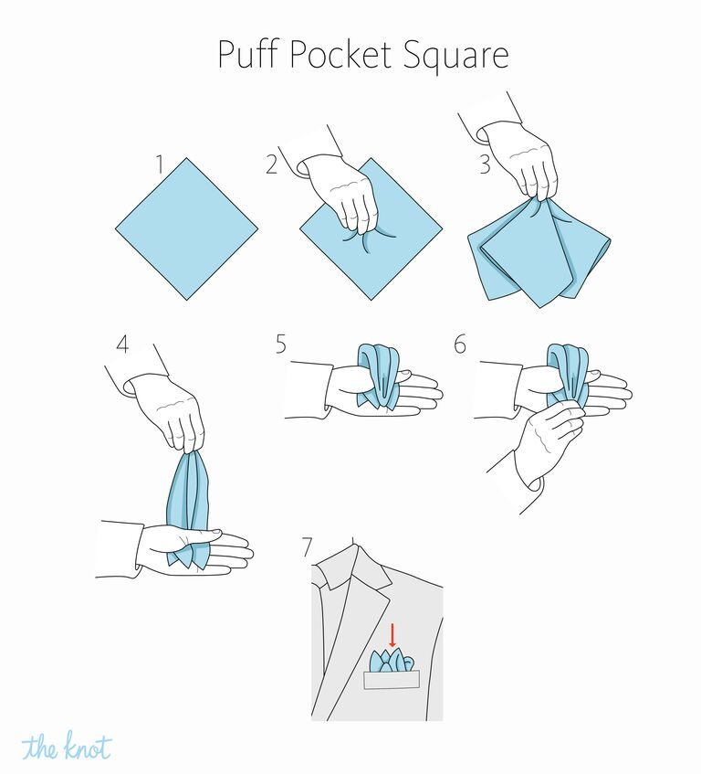 The Knot - How to fold a puff pocket square