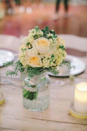 Yellow Flowers Used Throughout Wedding Day