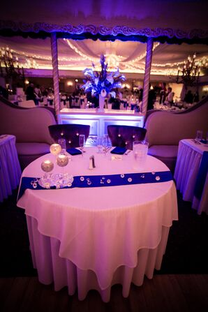 Sweetheart Table With Blue Runner