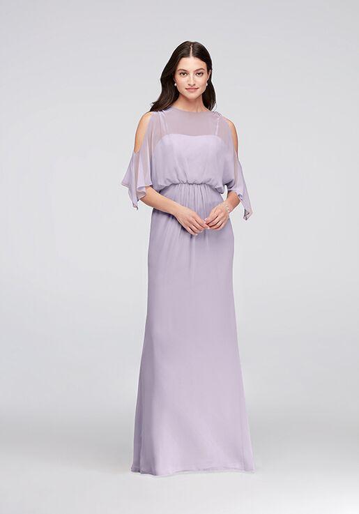 David S Bridal Collection Style F19712 Bateau Bridesmaid Dress
