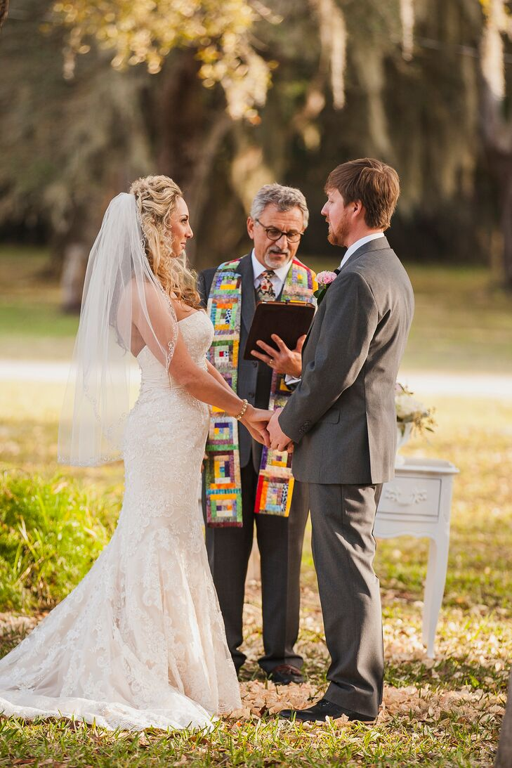 Gina and Kirby were wed on the grounds of the St. Augustine Rod and Gun Club in front of 125 friends and family members.