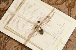 Invitation Suite Vintage Inspired Lock and Key