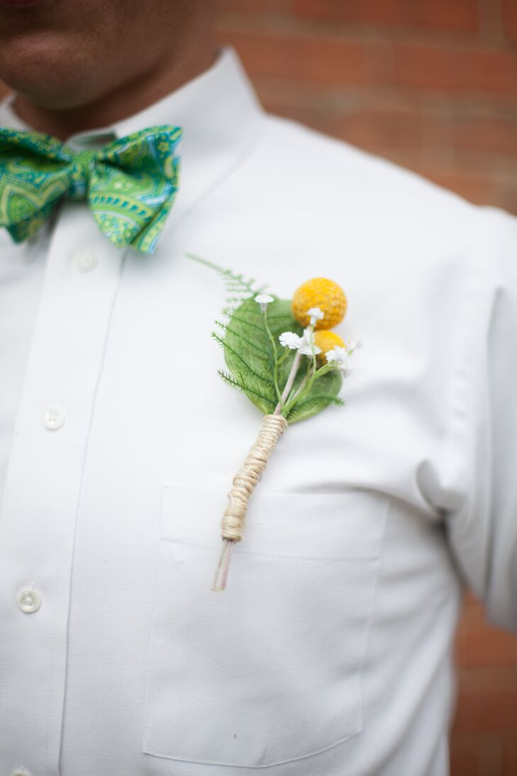 Billy Balls and Fern Boutonniere