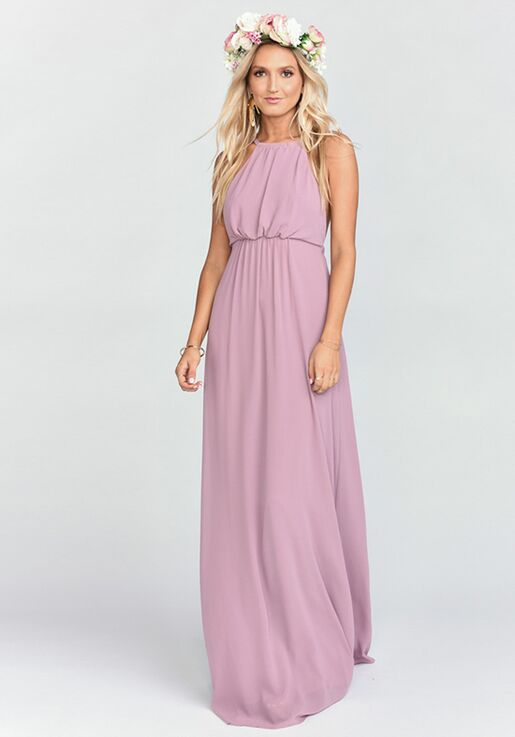 0125aa1656 Show Me Your Mumu Amanda Maxi Dress - Antique Rose Chiffon Halter  Bridesmaid Dress