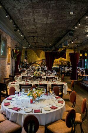 Modern-Industrial Restaurant Reception at Barcelona in Columbus, Ohio