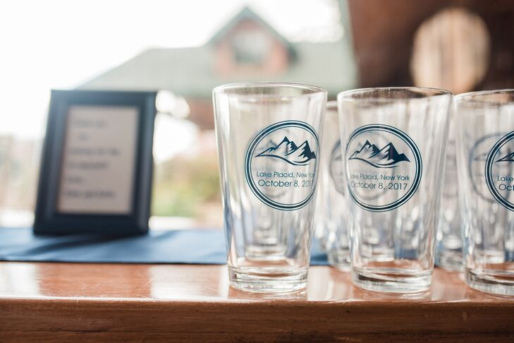 Personalized Mountain Motif Glasses