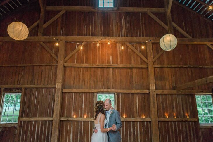 """Guests looked on as Megan and Derek chose Adele's """"Make You Feel My Love"""" for their first dance as newlyweds."""