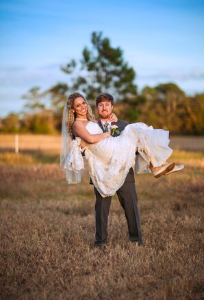 St. Augustine, Florida Field Couple Shot