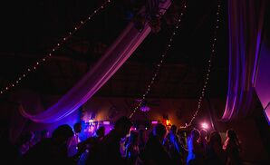 Post-Reception Party with Colored Lighting
