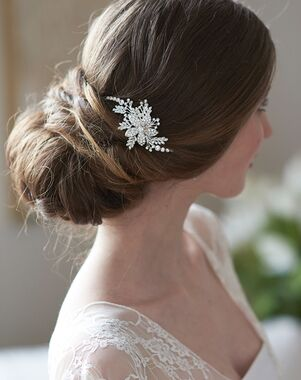 USABride Josie Floral Hair Clip (TC-2405) Gold, Silver Pins, Combs + Clip