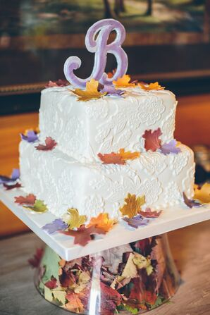 Two-Tiered Autumnal Wedding Cake