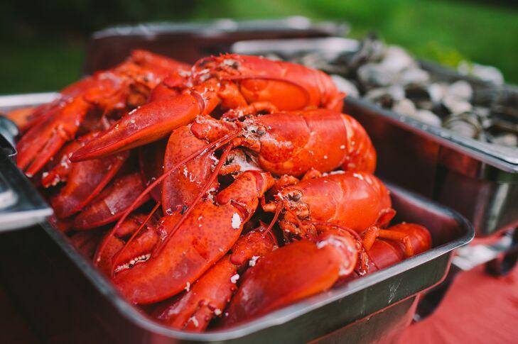 Lobster Wedding Menu