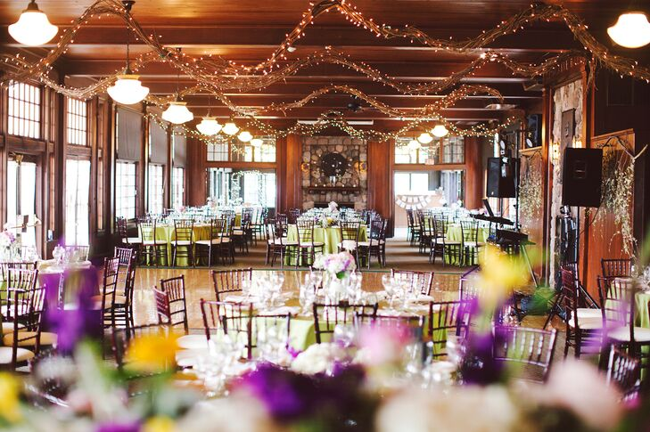 """""""My vision was rustic and vintage, but I wanted it to feel natural, earthly and lively,"""" the bride explains. """"I wanted people to be able to move around -- get up out of their seats and enjoy the scenery as well as the wedding."""""""