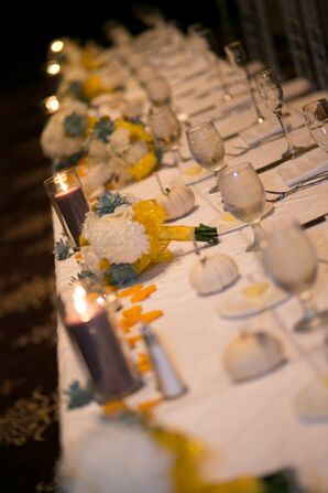 The Fall Inspired Decorations of the Head Table