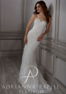 Adrianna Papell Platinum Adrianna Mermaid Wedding Dress