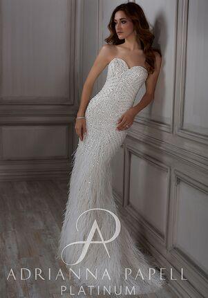 4d4e3f42f48 Adrianna Papell Platinum Adrianna Mermaid Wedding Dress