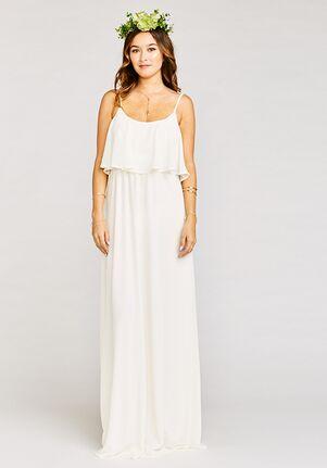 54981f59d9f Show Me Your Mumu Caitlin Ruffle Maxi Dress - Wedding Cake Chiffon Scoop  Bridesmaid Dress