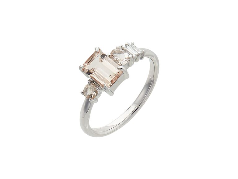 Mejuri linear cluster ring
