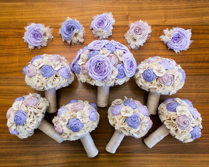 Lavender Fabric Flower Bouquet