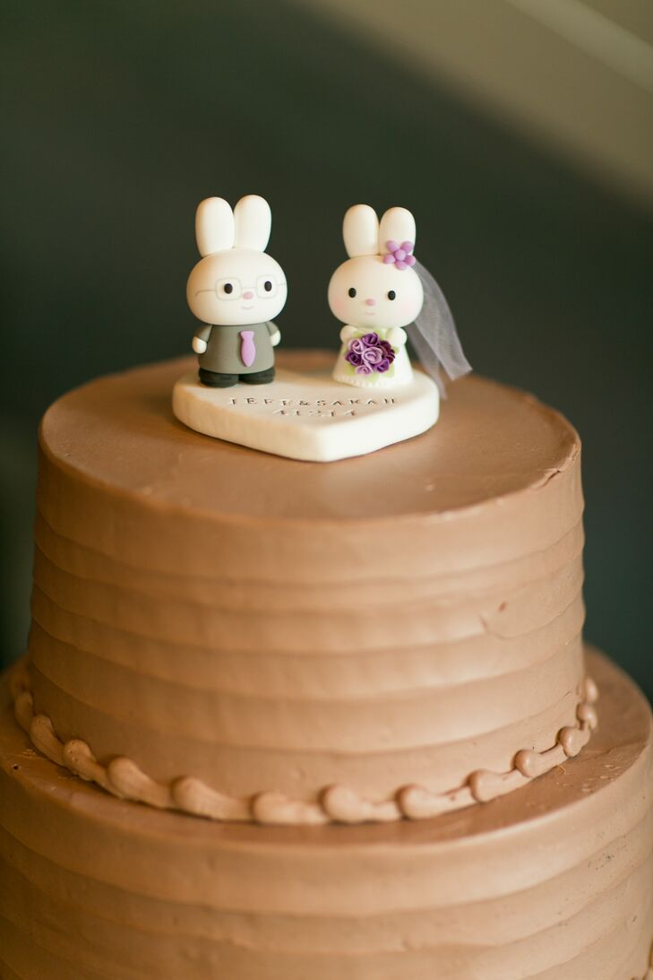 Custom Clay Bunny Cake Toppers
