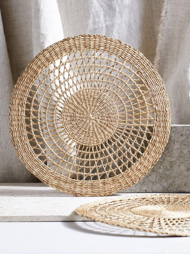 Woven place mats bridal shower gift idea