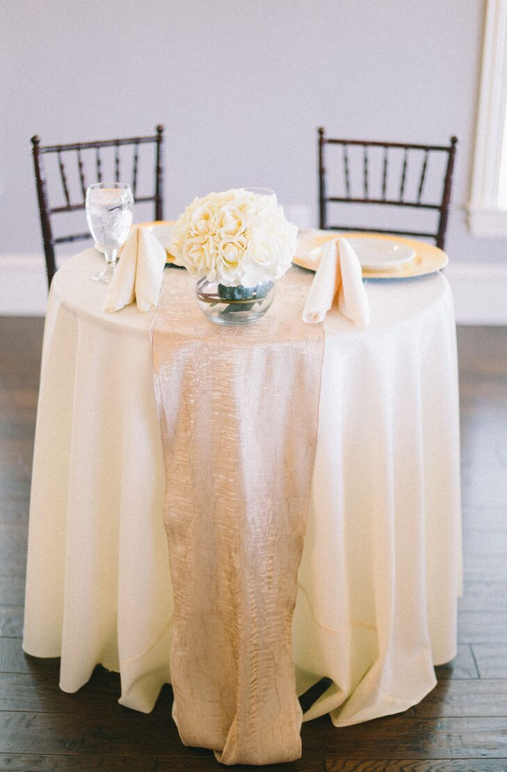 Ivory and Champagne Sweetheart's Table