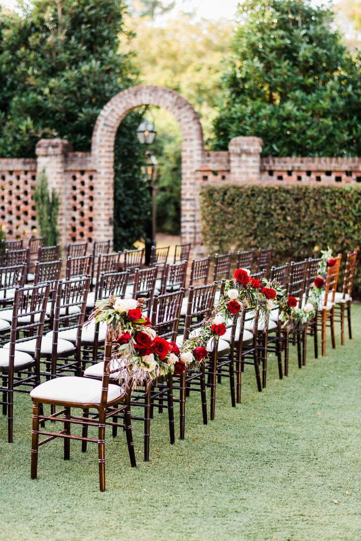 Outdoor Ceremony at the Sutherland Estate in Wake Forest, North Carolina