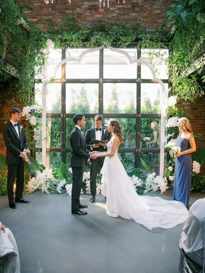 Wedding Ceremony at The Foundry in Long Island City, New York