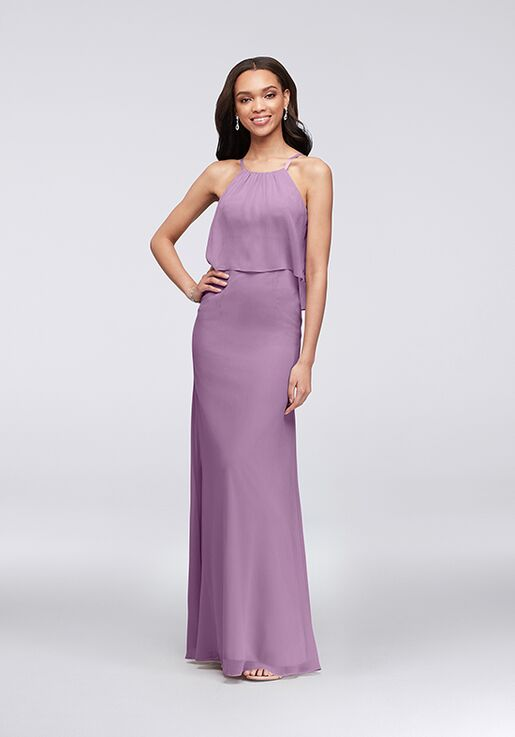 David S Bridal Collection Style F19773 Scoop Bridesmaid Dress