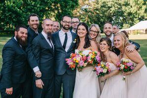 Champagne Bill Levkoff Bridesmaid Dresses