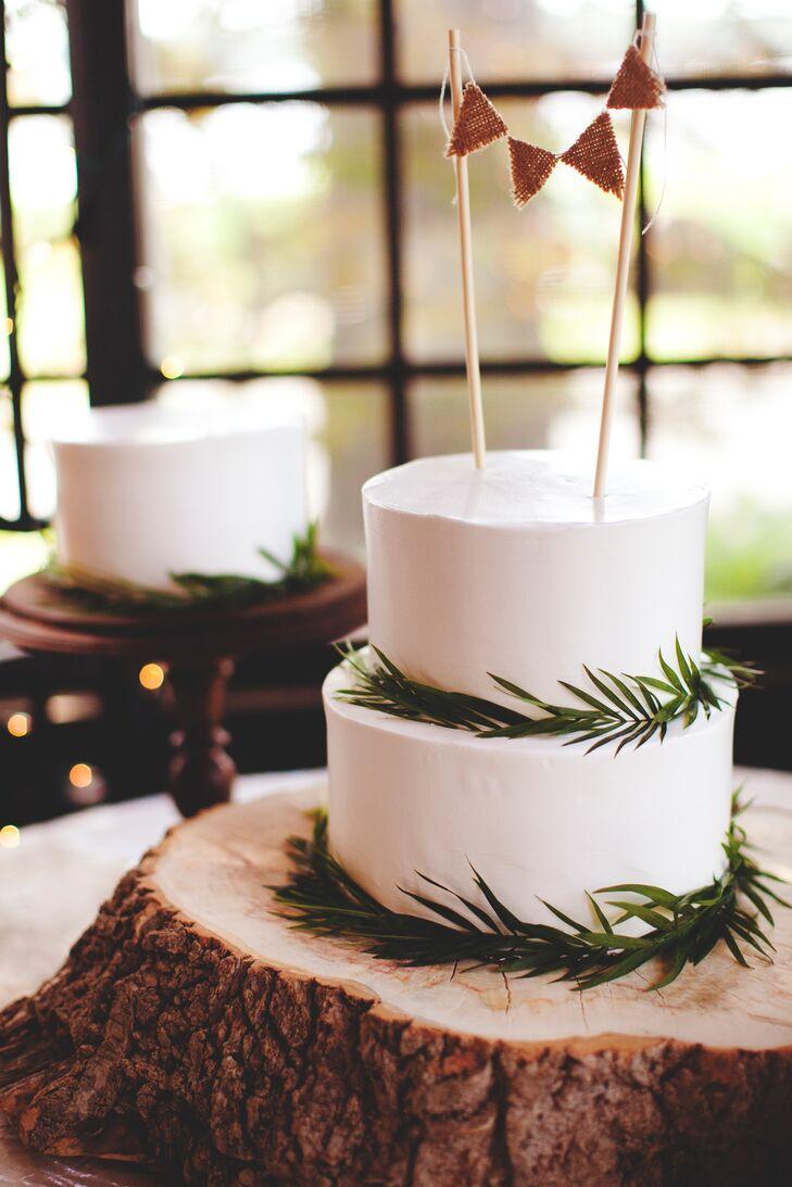 Two-Tier Rustic Wedding Cake