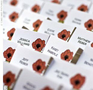 Libby designed all the printed materials for her wedding, which featured her own drawings of anemones, a motif that was repeated on escort cards and invitations.