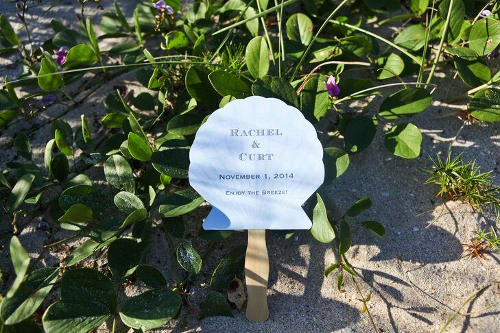 Clam Shell-Shaped Wedding Program Fan