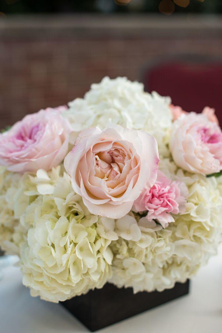 rose carnation hydrangea centerpieces rh theknot com