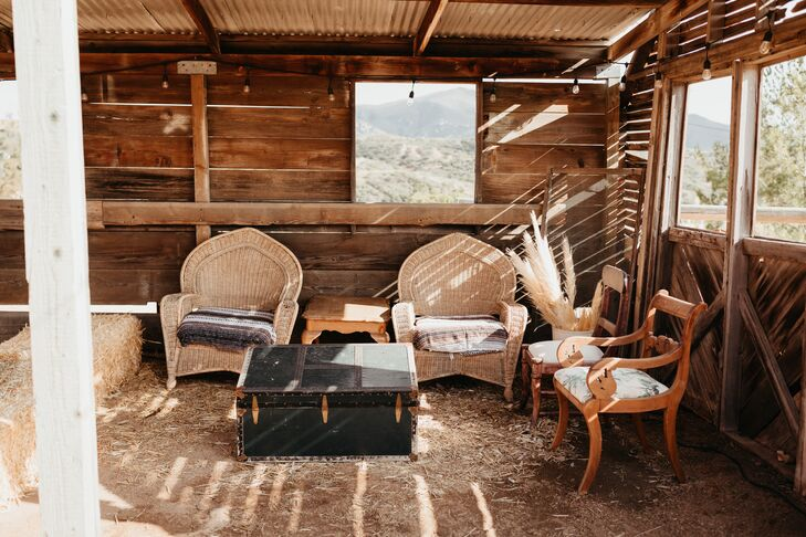 Rustic Lounge Furniture in Wood Barn