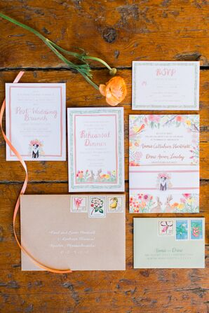 Custom Garden-Floral Wedding Invitations