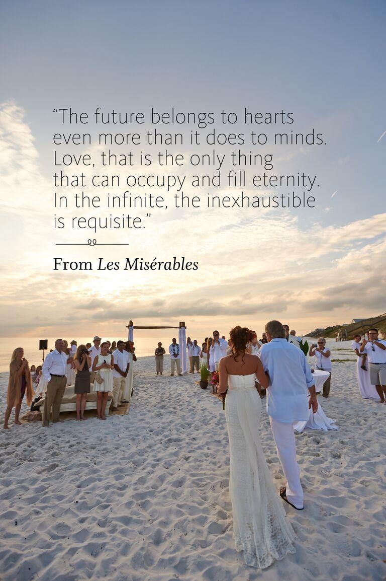 Le Miserables wedding ceremony reading