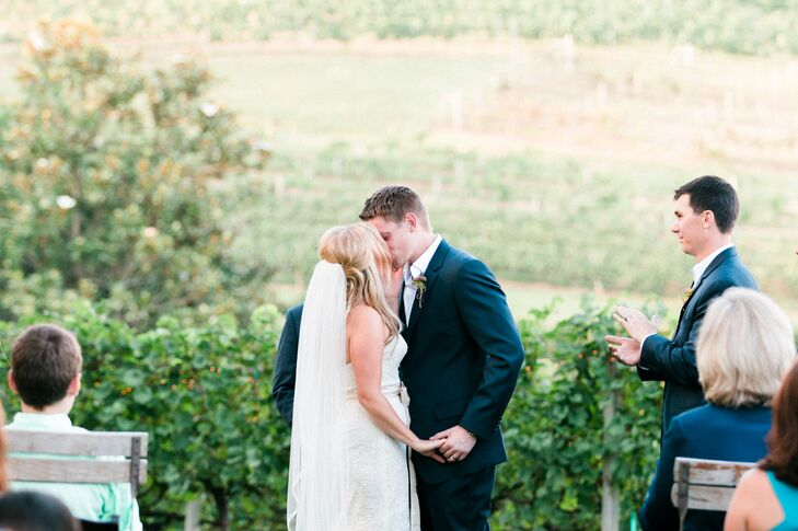 """""""Crane Creek Vineyards is a place that held so much beauty and created a gorgeous little haven forrnmy family when my father was ill,"""" says Cory. """"We wanted to pick a place that could help include the memory of my dad."""""""