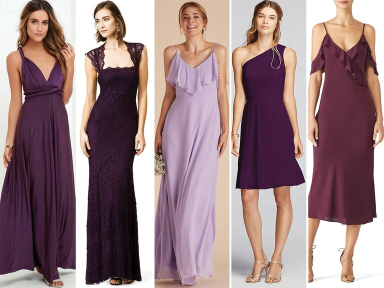 Purple Bridesmaid Dress