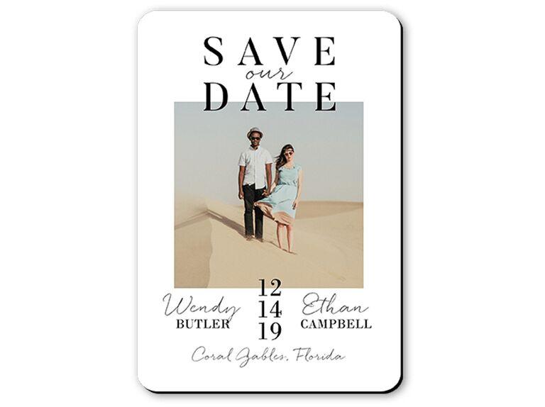 Petite Alma for Wedding Paper Divas Modish Date save-the-date