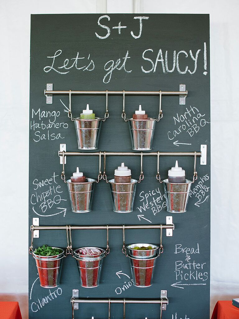Sauce And Topping Bar Idea For Wedding Reception Food
