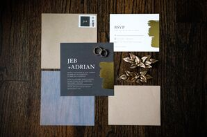 Dark and Modern Stationery Suite