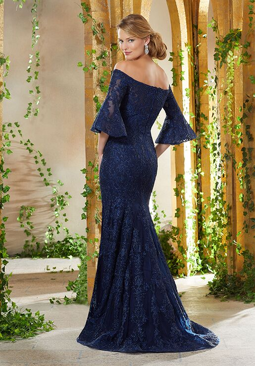 MGNY 71930 Blue Mother Of The Bride Dress