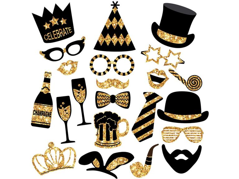 new year wedding photo booth props