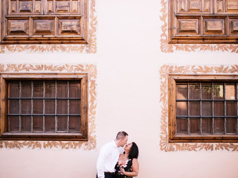 Couple portrait fourth anniversary gift