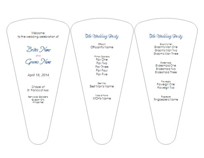 simple ceremony program fans