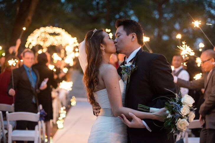 Nicole and Liyan Celebrate First Kiss with Sparklers