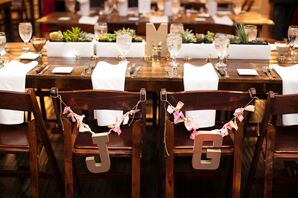 Whimsical Initial Chair Decorations