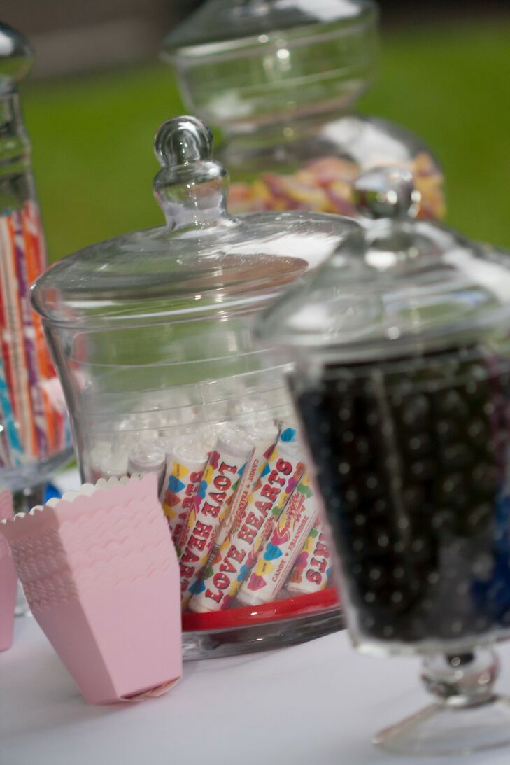 An assortment of candies was available to guests as a sweet treat.